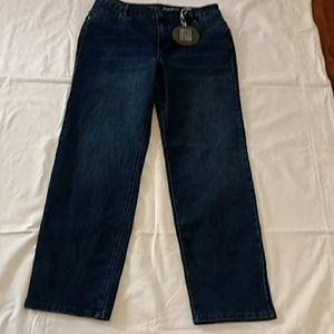 NWT Avenue Denim Jean size 14 Straight Leg